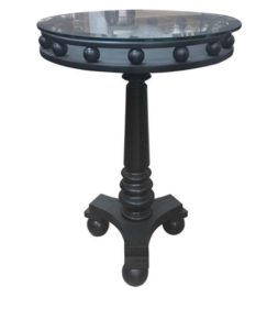 Italian Art Deco Black Side Table