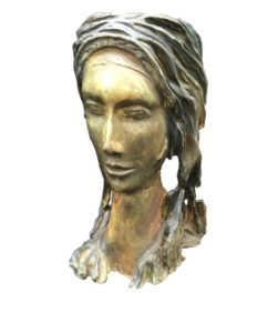 Mid-Century Modern Terracotta Sculpture of a Woman Face