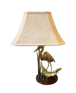 Hollywood Regency Italian Flamingo Brass Table Lamp