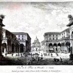 """Veduta della Piazza del Mercato di Catania a Saint-Non, """"Voyage pittoresque ou description de Royaumes de Naples et Sicile"""", Parigi 1785"""