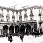 Prospetto di Palazzo Asmundo in Piazza Mazzini, foto, 1902, archivio privato G. Asmundo, Catania